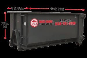 15 Cubic Yard Side Load Dumpster For Rent
